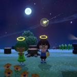 満月の夜に流れ星