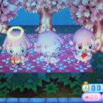 桜のレジャーシート。